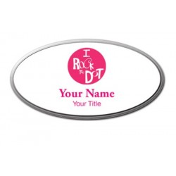 Personalized Name Badge - Oval