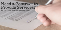 Need a Contract to Provide Services?